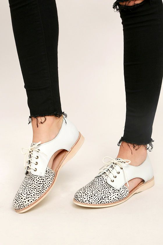 56b709ebda66 Give the ol' razzle dazzle in the Rollie Sidecut White Snow Leopard Leather  and Pony