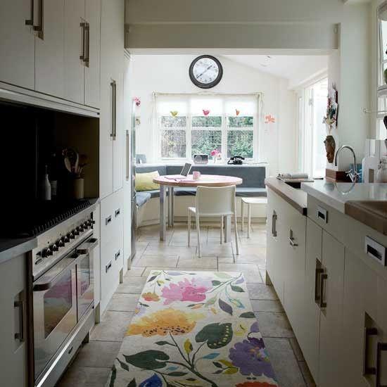 Narrow Modern Kitchen Kitchen Decorating Ideas Small Kitchens Ideal Home Long Narrow Kitchen Narrow Kitchen Modern Kitchen