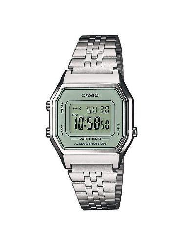 bb904d8cdf8d Casio LA680WEA-7EF - Reloj digital de cuarzo para mujer con correa de acero  inoxidable