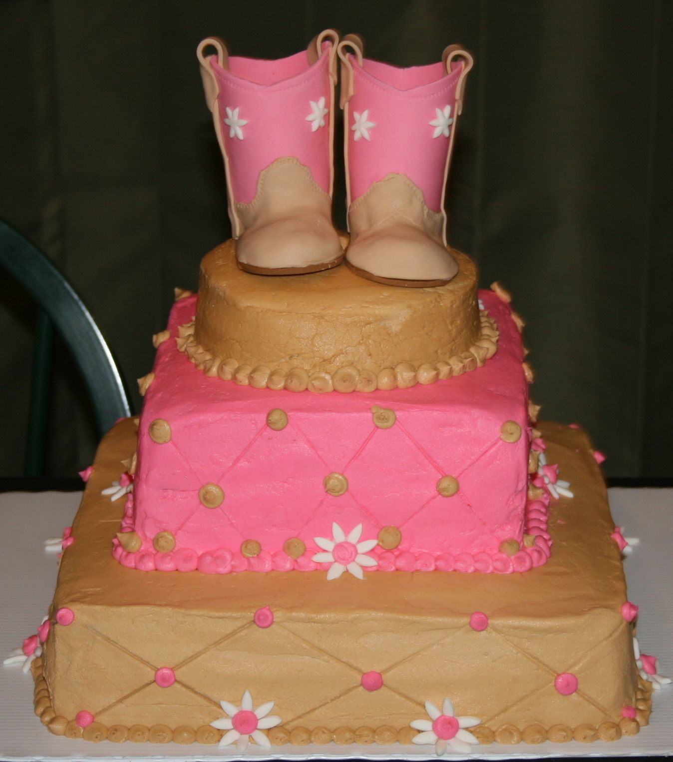Baby Boots - Baby shower cakes for neighbor\u0027s friend, with baby ...