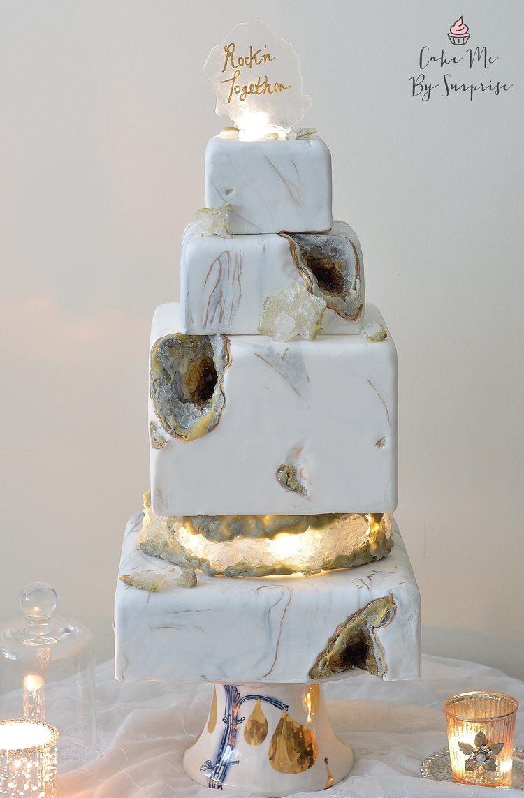 Glowing Light Up Geode Marble Wedding Cake Wedding Cake Prices Homemade Wedding Cake Wedding Cake Alternatives