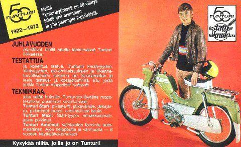 Tunturi-mopon mainos/1972