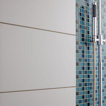 Carrelage Mural Rubix Brillant Artens En Faience Blanc Blanc N 0 30 X 60 Cm Parement Mural Carrelage Mural Carrelage