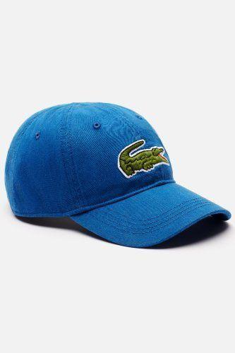 92aad8c0e Lacoste Men s Large Green Croc Gabardine Cotton Cap   Caps   Hats ...