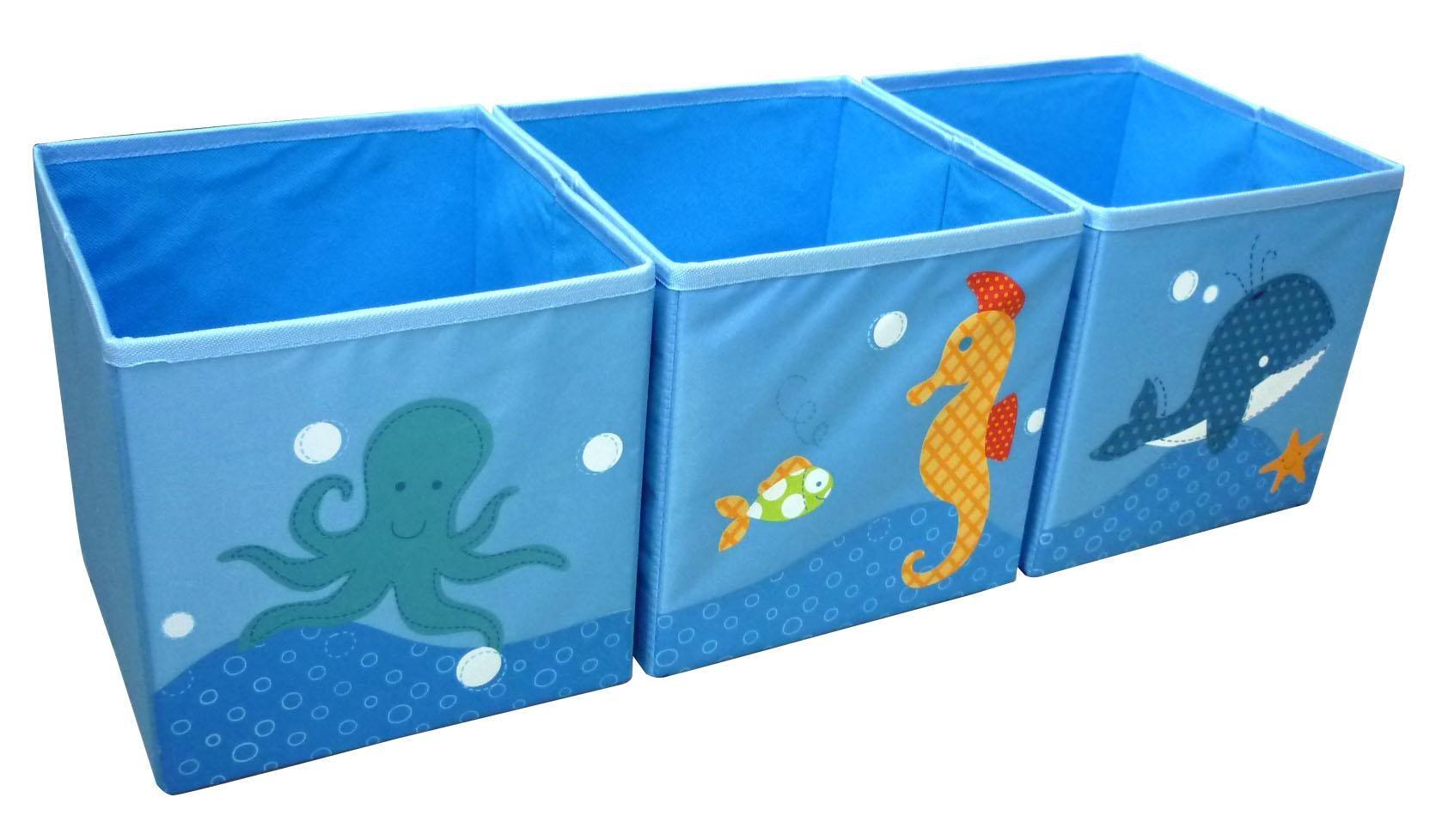Neo Geo Kids Ng5005sd Toy Storage Box 3pcs Set Sea Dream