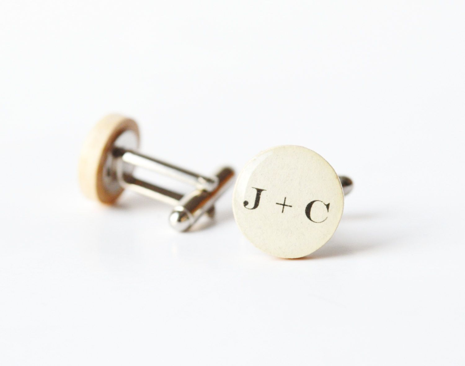 Fifth Wedding Anniversary Gifts For Men: Personalized Cufflinks Wood Cufflinks Personalized Men 5th