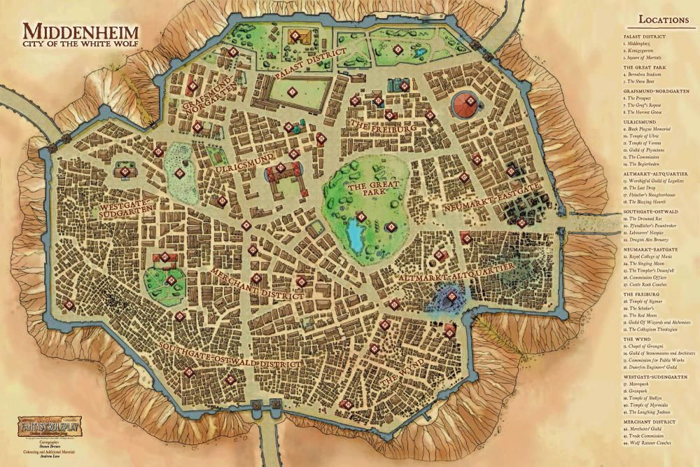 Wfrp bretonnia google search gaming maps cities and towns town of middenheim city of the white wolf map warhammer fantasy roleplay gumiabroncs Images