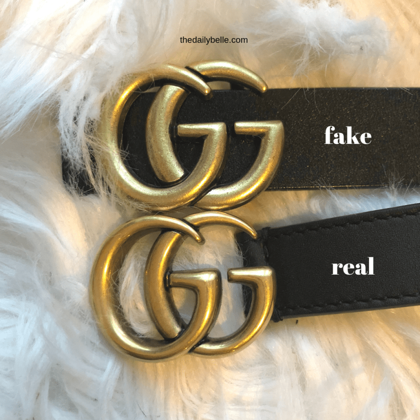 The Difference Between The Real Gucci Belt And The Fake One The Daily Belle Gucci Belt Outfit Original Gucci Belt Black Gucci Belt