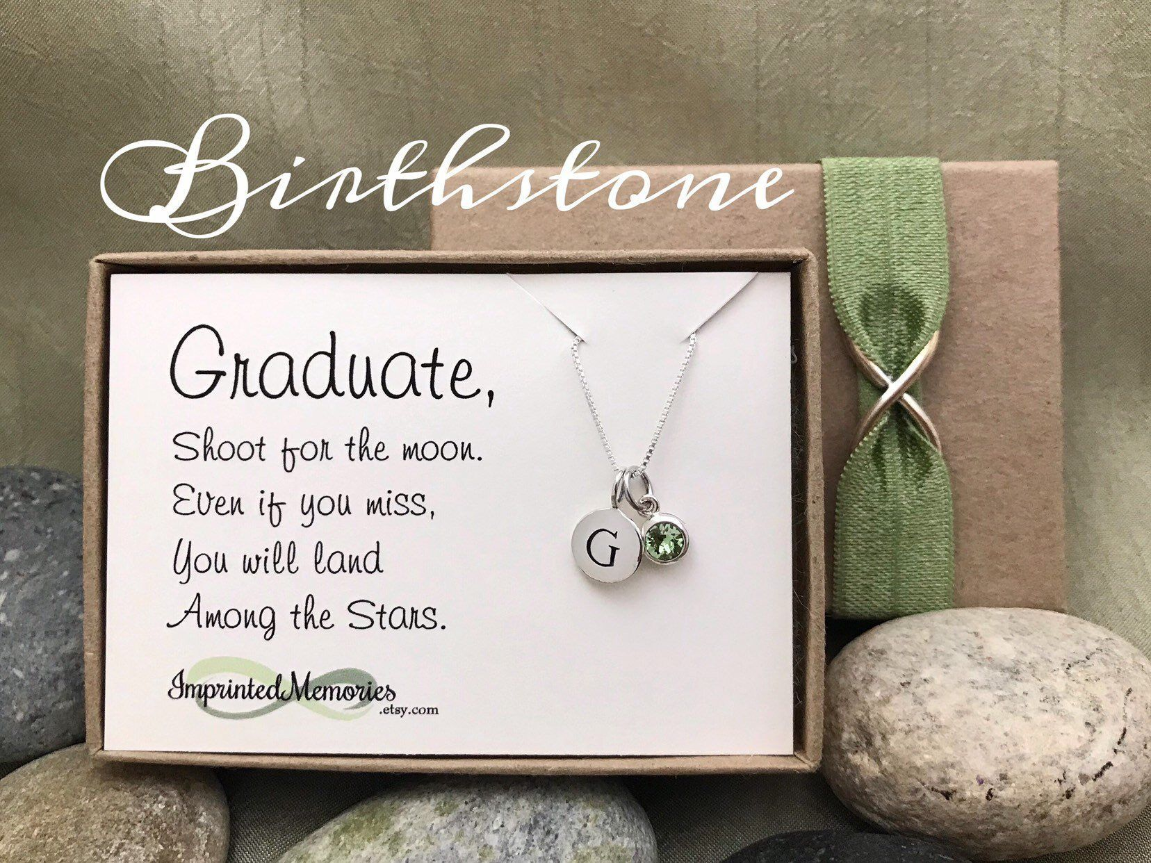 Gift for graduate jewelry tiny personalized sterling