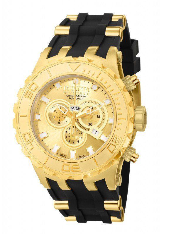 7ff63eb3803 Invicta Reserve Subaqua Model 6905 Gold Plated Swiss Watch New In  Presentation Box