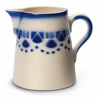 Französischer Milchkrug Keramik    Gedeckter Tisch