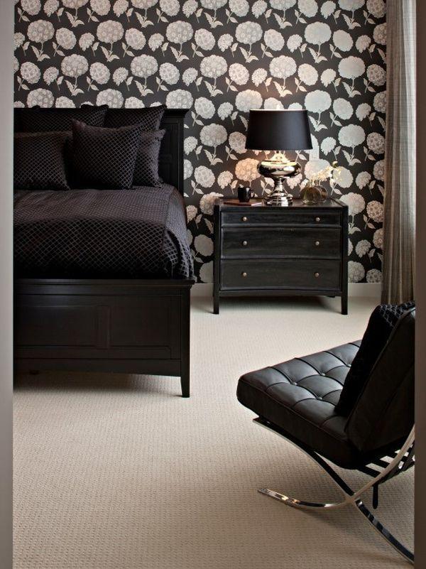 Color That Work Well In Combination With Black Furniture Black Bedroom Design White Bedroom Design Luxury Bedroom Decor