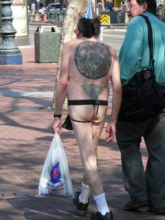 nude Street public boy
