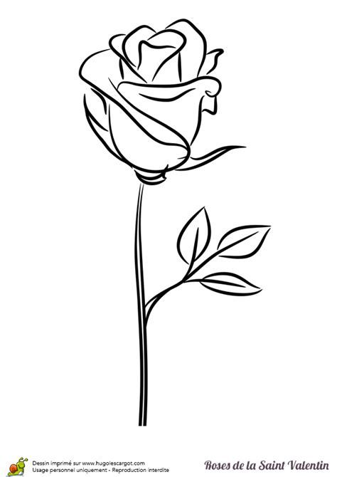 Rose Avec Tige Dessin Ecosia Roses Drawing Flower Drawing Rose Stencil