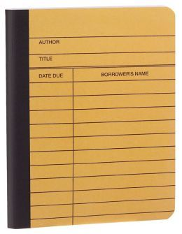 $6 b&n Library Card Composition Notebook