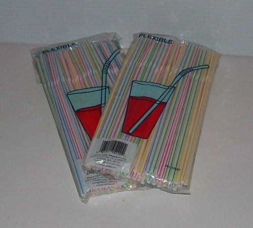 "Flexible Drinking Straw 2 Packs of 50 Straws 8 1/4"" Long by Symak. $2.99"