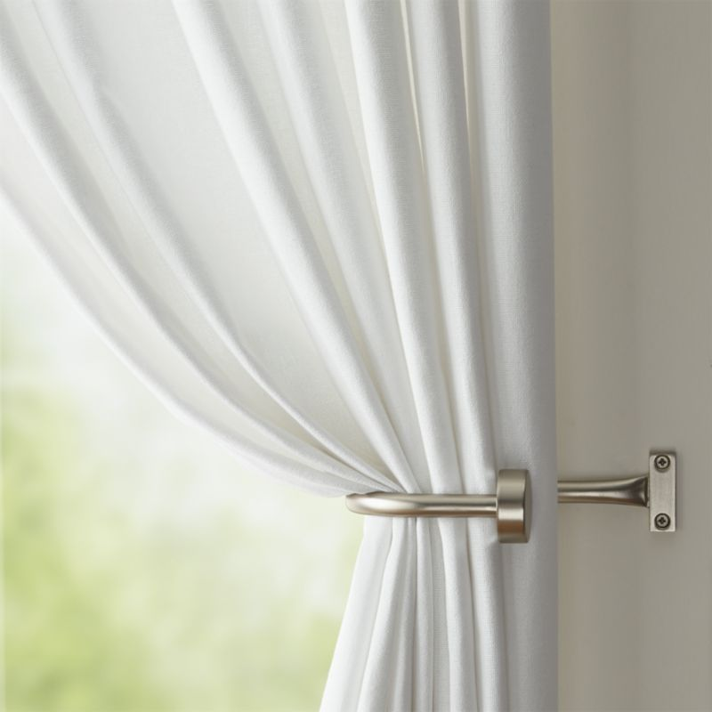 Set Of 2 Matte Nickel Curtain Tie Backs Crate And Barrel