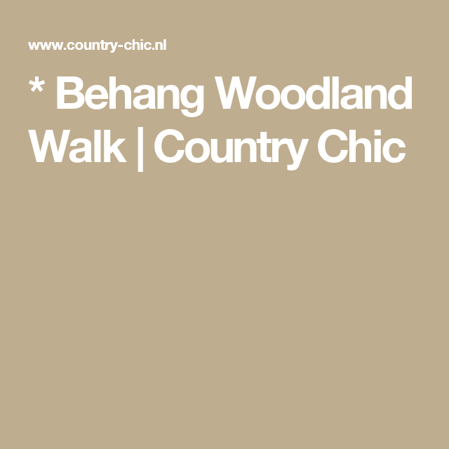 * Behang Woodland Walk | Country Chic