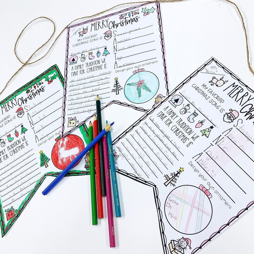 Christmas Flag Worksheet