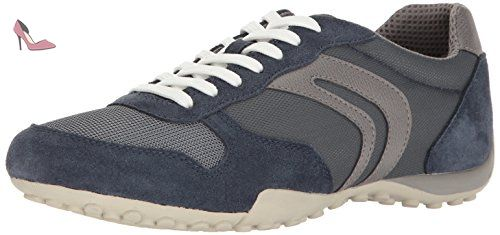 Uomo Symbol A, Sneakers Basses Homme, Gris (DK Grey), 42.5 EUGeox
