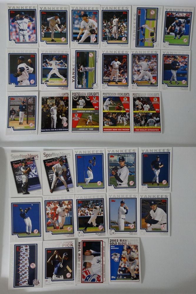 2004 Topps Series 1 2 New York Yankees Team Set Of 31