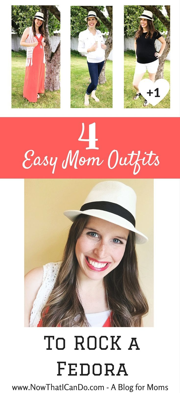 e80d3ad6b1f This mommy blogger shares how she put together four simple outfits to style  a fedora- and she had never worn one before in her life!