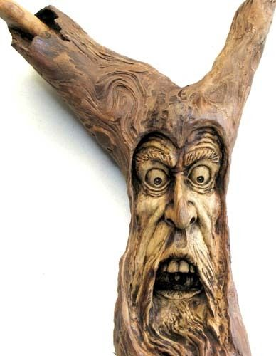 Original tree spirit wood carving halloween oregon