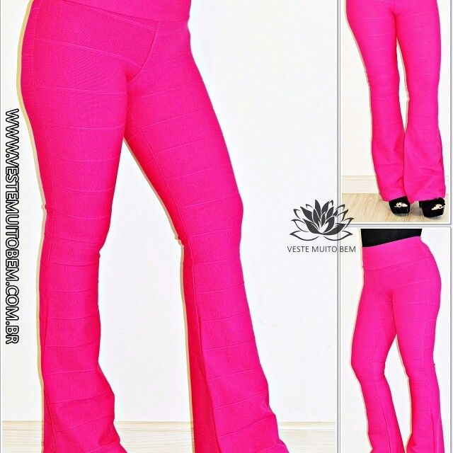 Calça Flare Bandagem Pink