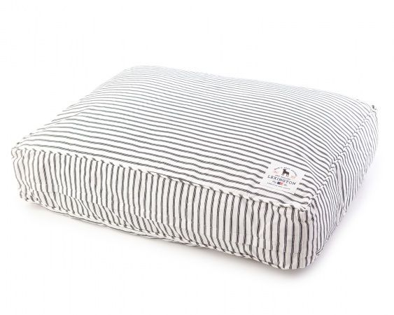 The Hampton Bayside Dog Bed. A treat for both the dog and the dog lover.  The dog bed has a classic stripe design with a Lexington dog label. 734775e026e43