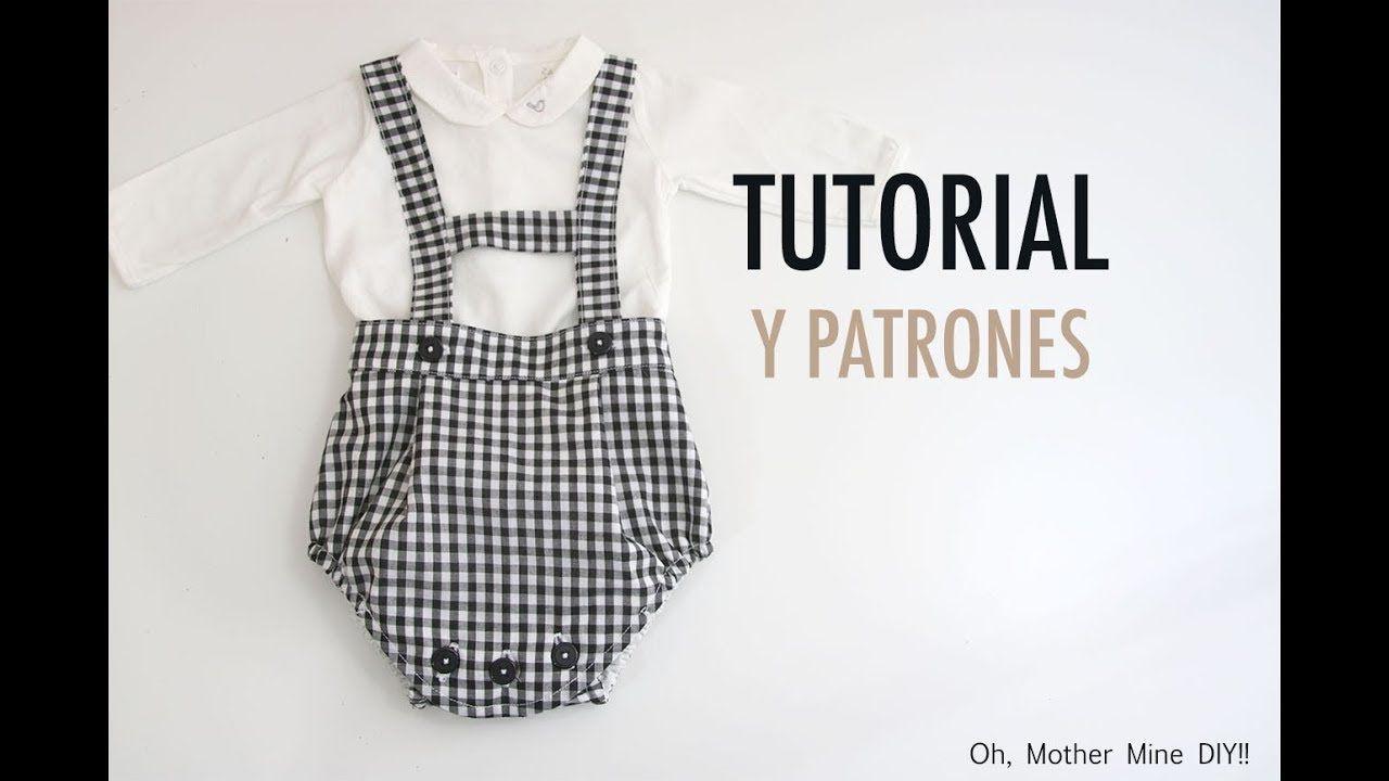 ecba2dbbd Costura: Peto ranita para bebés (patrones gratis) | tutoriales ...