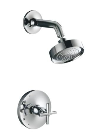 Purist Flow Control Valve Cross Handle Shower Faucet Kohler
