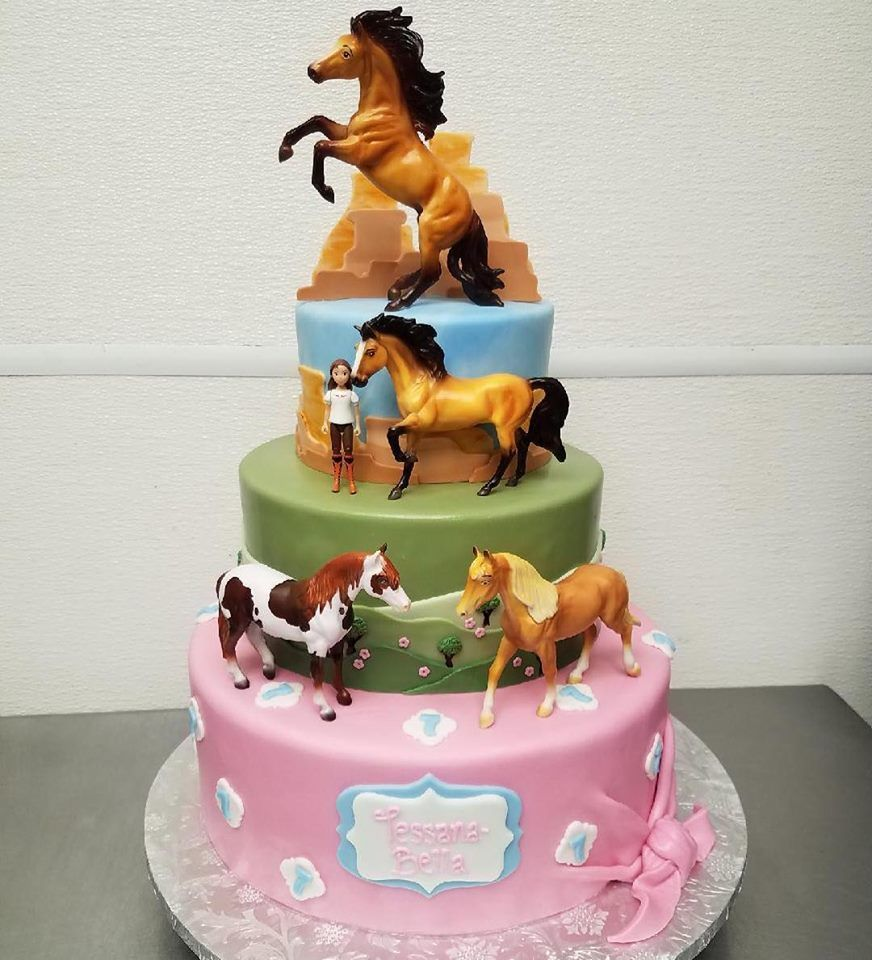 Outstanding Tiered Horse Themed Birthday Cake Horse Cake Horse Birthday Funny Birthday Cards Online Alyptdamsfinfo