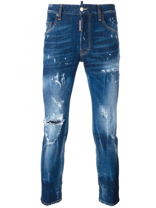 Dsquared2 Skater Distressed Jeans Navy Men #men #fashion #jeans #blackfriday #gifts #style #lifestyle #streetwear