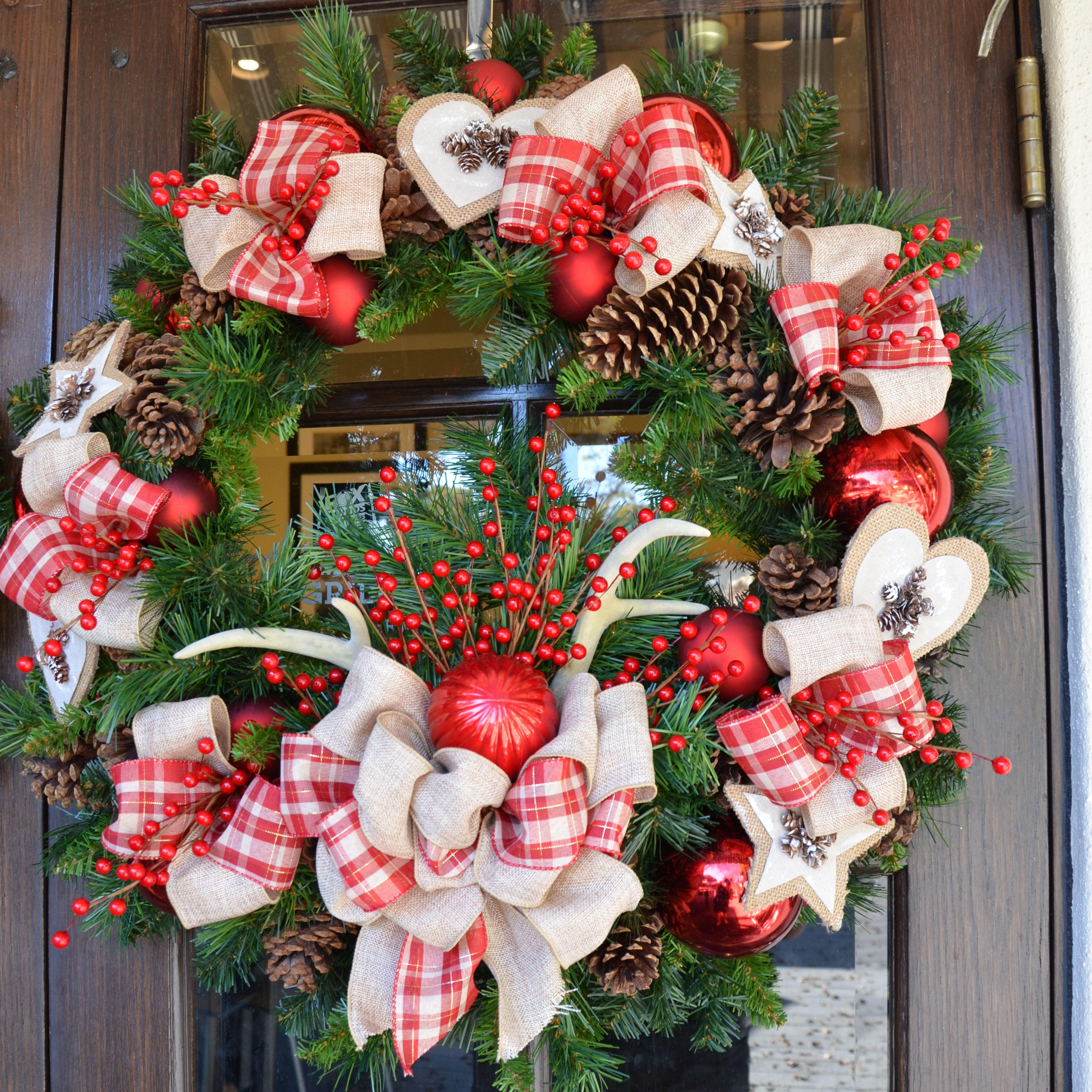 Rustic Christmas Wreath Christmas Wreaths Rustic Christmas Wreath Rustic Christmas