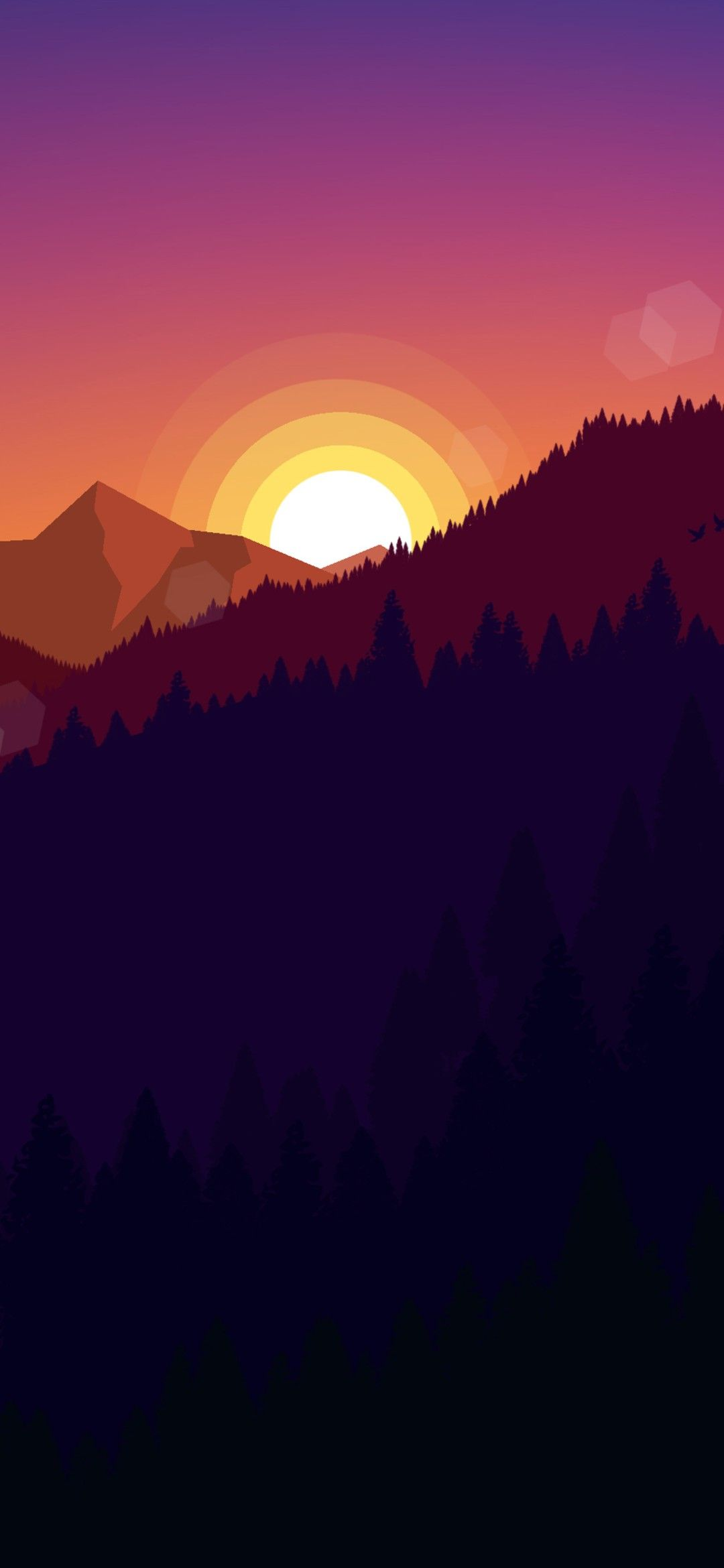 Mountain Sunset Minimal Wallpaper 1080x2340 In 2020 Scenery Wallpaper Minimal Wallpaper Sunset Nature