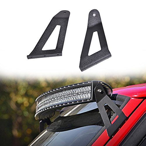 Omotor 50 curved led light bar upper windshield mounting brackets omotor 50 curved led light bar upper windshield mounting brackets for jeep cherokee xj aloadofball Images