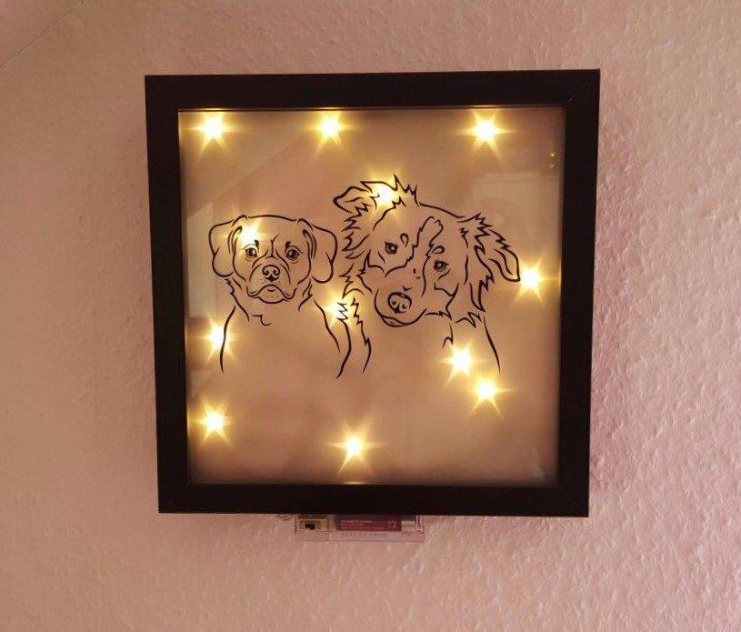 beleuchteter Bilderrahmen *groß* | Frauferkel.de | Pinterest ...