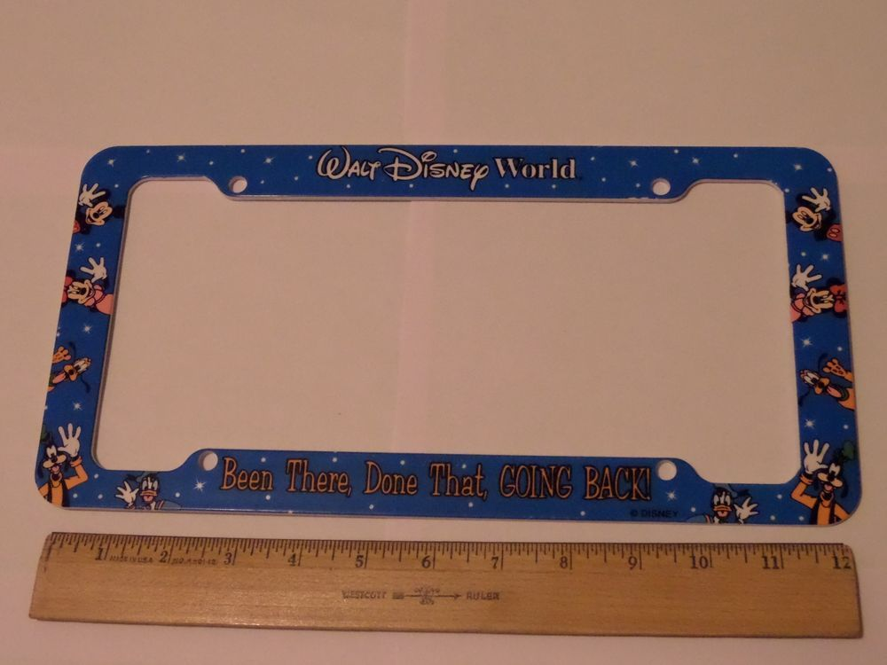 Walt disney world been there, done that, going back license plate frame