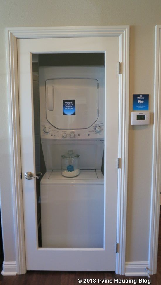 Compact Washer Dryer Stack. Lewis And Weldon Hidden Laundry Closet ...