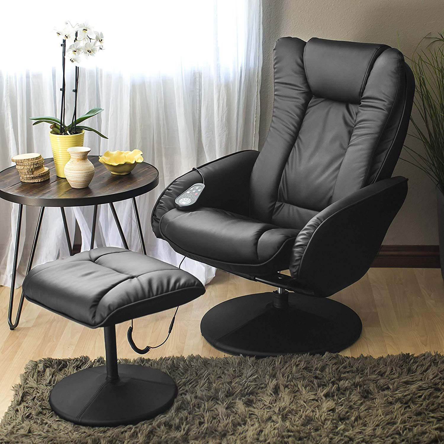 Best Choice Products Faux Leather Massage Recliner Chair w