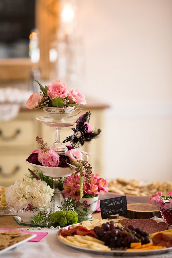 vintage wedding shower food ideas