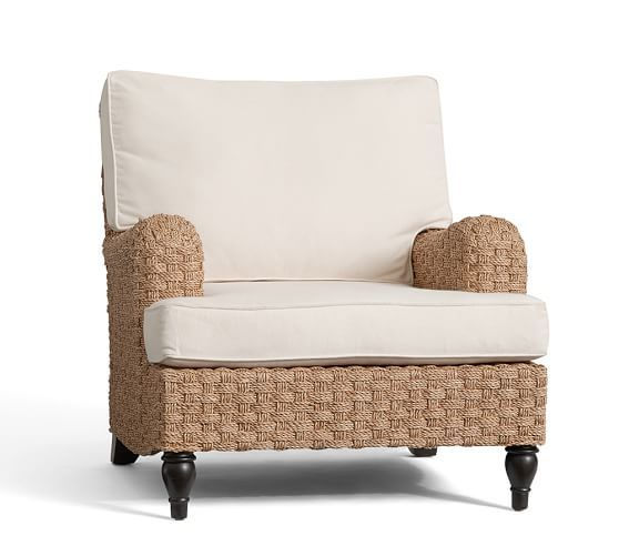 Fisher Woven Seagr Armchair Pottery Barn