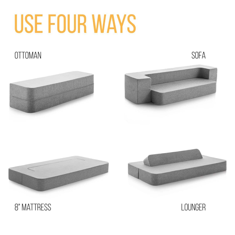 Lucid 8 Inch Folding Sofa Mattress A U T O Folding Sofa Sofa