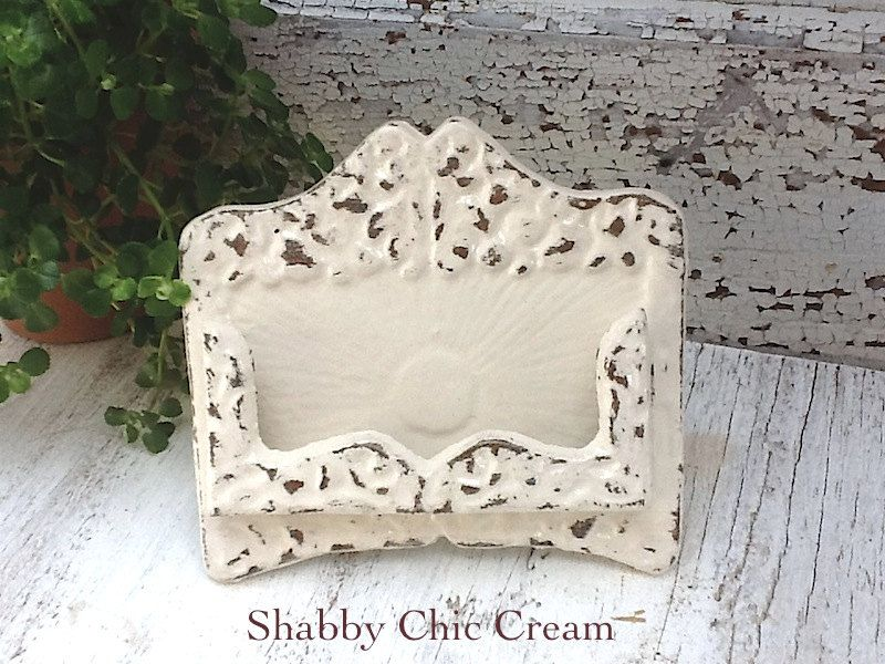 Business Card Holder -Wedding -Place Card Holder - Rustic Cast Iron ...