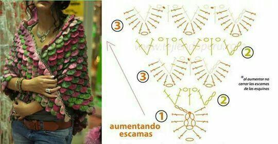 Krokodil-Stich | Crochet | Pinterest | Häkeln, Tücher und Schals