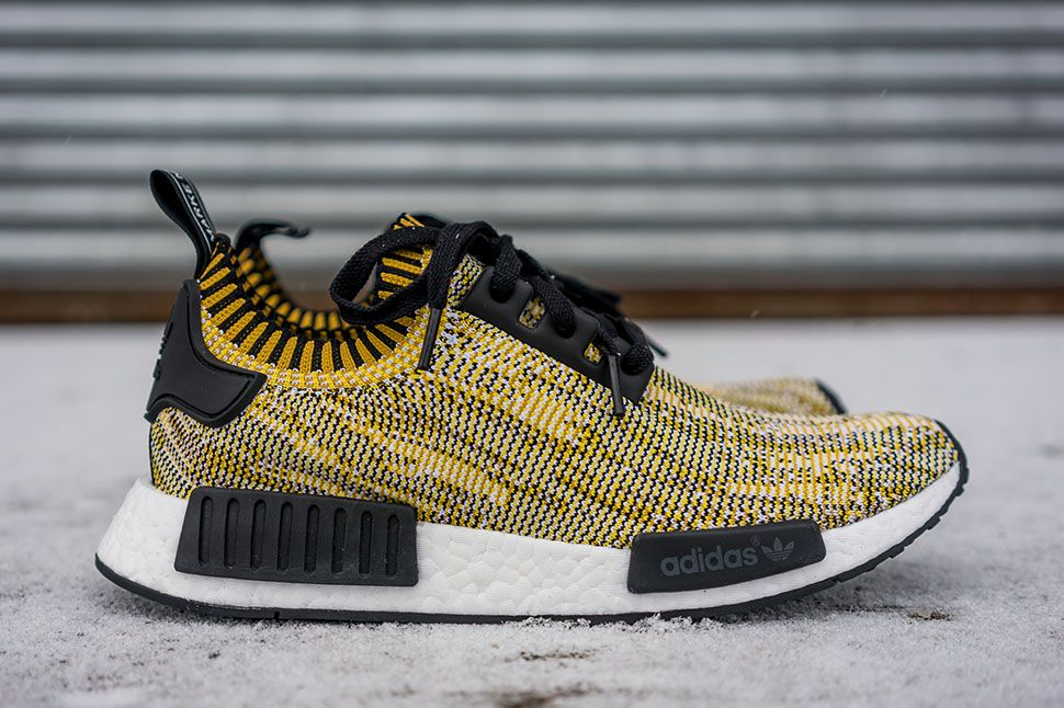 "adidas NMD Runner Primeknit ""Yellow Digi Camo†(Detailed"