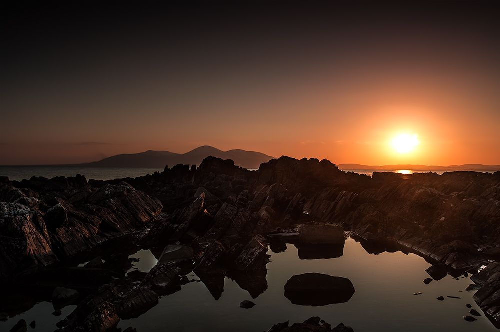 A Calm Evening Sunset Looking Across To The Mourne Mountains From St Johns Point Killough C Visual Imagery By Ja Evening Sunset Landscape Photography Imagery