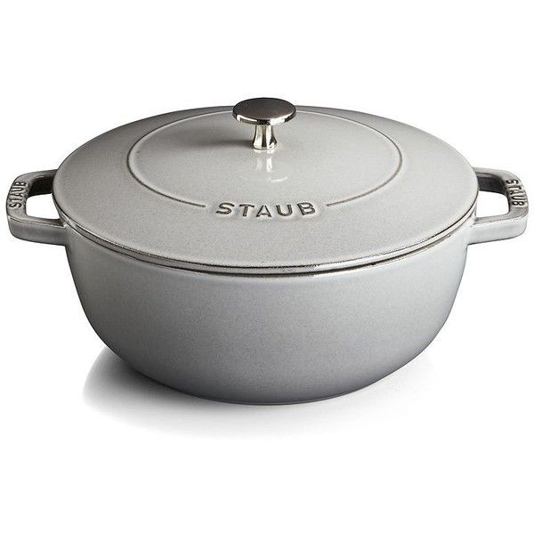 staub 375qt graphite grey essential french oven liked on polyvore featuring home - Staub Dutch Oven