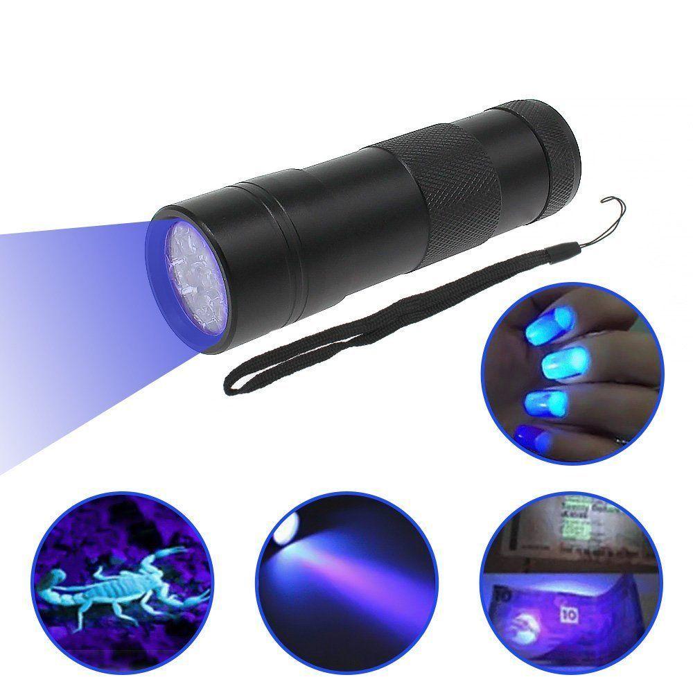 1 Pcs Uv Torch 12 Led Ultraviolet Flashlight 395Nm Uv Purple