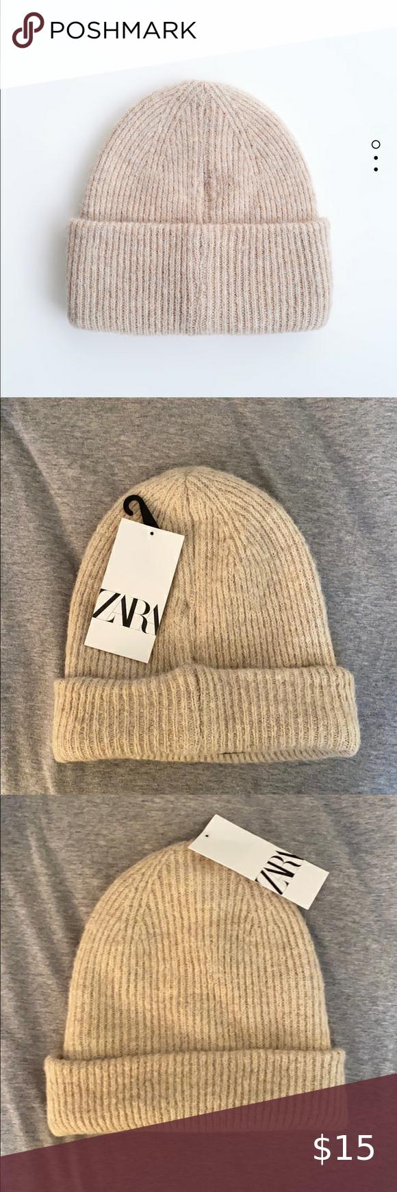 Zara Beanie Zara Hats Metallic Knits Knit Beanie Hat